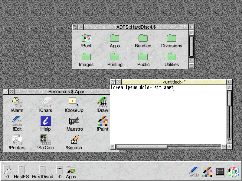 RISC OS 4.02 screenshot